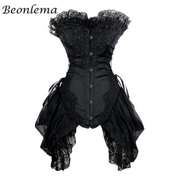 Corset Sexy Dress Lace Bustiers Gothic Cosplay Plus Size XS-6XL