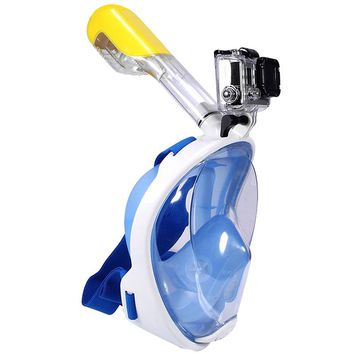 Swimming Diving Snorkeling Full Face Mask Surface Scuba for Gopro L/XL