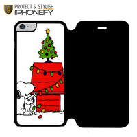 Merry Christmas Snoopy iPhone 6 Plus Flip Case|iPhonefy
