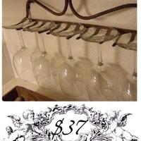 Garden Tool Wine Glass Rack by Obscurious™