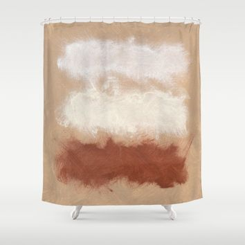 Rothko Inspired Spiced Berry Canyon Dusk 001 Shower Curtain by Corbin Henry
