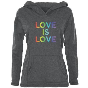 PEAPGQ9 LGBT Gay Pride Love Is Love Womens Pullover Hoodie
