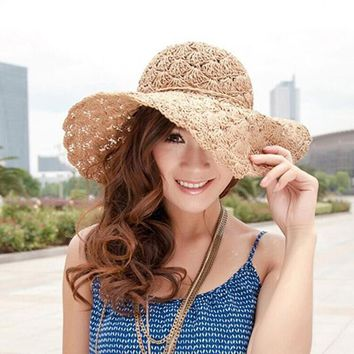2016 New High Quality Sun Hats Women Hats summer hat Women Fashion Cool Cool Beach Chapeau Femme popular Hat