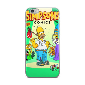 Simpsons Comics #213 Homer Bart Marge Lisa Maggie Simpson Santa's Little Helper The Simpsons iPhone 4 4s 5 5s 5C 6 6s 6 Plus 6s Plus 7 & 7 Plus Case