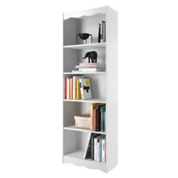 Sonax Hawthorn 72-Inch Tall Bookcase, Frost White