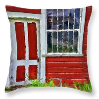 Little Red House decorative throw pillow, accent cushion, novelty pillow, scatter cushion, pillow cover, cushion cover, home accents