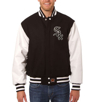 Chicago White Sox Wool And Leather Varsity Jacket