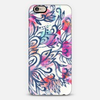 Soft Blue & Magenta Watercolor Pattern iPhone 6 case by Micklyn Le Feuvre | Casetify