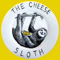 Side Plate - Hand Painted -The Cheese Sloth