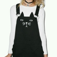 Lazy Cat Black Mini Dungaree Dress 6 8 Petite SOLD OUT Pinafore Style Lazy Oaf | eBay