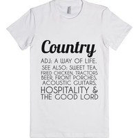 Country-Female White T-Shirt