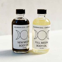 Aquarian Soul + Earth Oils Lunar Body Oil Set- Assorted One