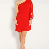 Off-The-Cuff Dress - Red