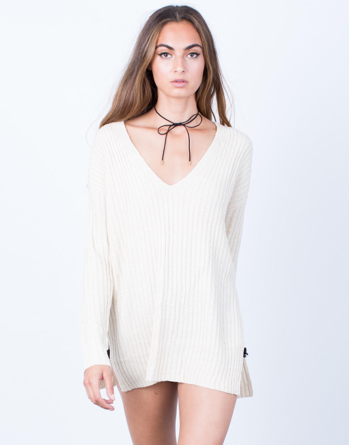 5dd08b7a96ce8 Cozy V-Neck Sweater Top from 2020AVE