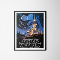 Star Wars Print, Vintage Movie Poster, Digital Download, 300dpi