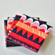 Ceramic Coasters Marimekko Geometric Pattern, set of 4