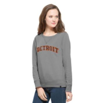 DCCKG8Q MLB 47 Brand Detroit Tigers Women's Cross Check Crew Neck Sweatshirt