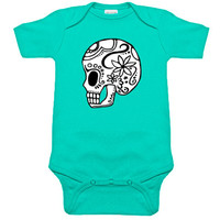 Sugar Skull Aqua One Piece
