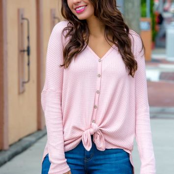 Could Be Love Pink Button Down Knot Top Shop Simply Me Boutique – Simply Me Boutique