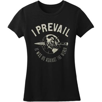 I Prevail  Us Against The World Junior Top Black