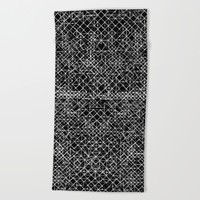 Cyrkiit Black and White Beach Towel by Dood_L