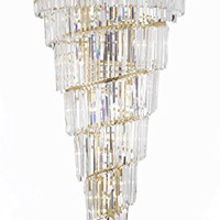 """French Empire Crystal Chandelier Lighting With Gold Finish H 54"""" X W 30"""" - G7-B40/2163/34"""