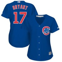 Women's Chicago Cubs Kris Bryant Majestic Alternate Royal Plus Size Cool Base Player Jersey