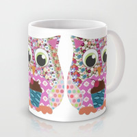 Appliqué Patch Owl Mug by Sharon Turner
