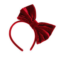 Red Velvet Bow Alice band