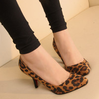 New nightclubs high heels sexy Leopard-four [133]