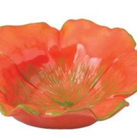 One Kings Lane - Magenta - Set of 4 Pansy Bowls, Poppy