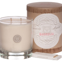 9 oz. Double Wick Candle, Magnolia, Filled Candles