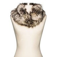 Cold Weather Faux Fur Scarf Brown - Merona™ : Target