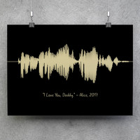 Personalized Wave, Custom Sound Wave, Custom Wave, Voice Art Print, Sound Wave Print, Voice Wave Print, Voice Wave, Soundwave Print, Voice