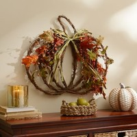 Fall Forest Pumpkin Wall Plaque | Kirklands