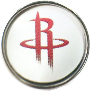 NBA Basketball Logo Houston Rockets 18MM - 20MM Fashion Snap Jewelry Snap Charm New Item