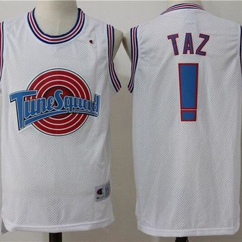 Taz Jersey ! Tune Squad Space Jam Movie Basketball Jersey White
