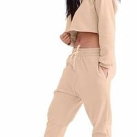 Khaki Crop Top Jumpsuit