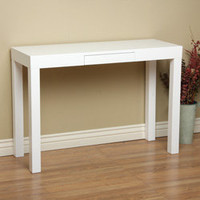 Lachlan Glossy White Sofa Table | Overstock.com