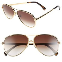 Women's Wildfox 'Airfox II' 57 Aviator Sunglasses