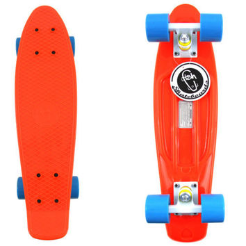 "Fish Skateboard Orange 22"" Urban Retro Cruiser Stereo Vinyl"
