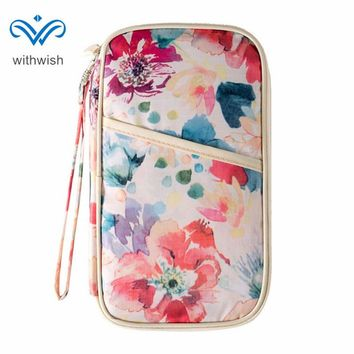 New Arrival Floral Series Passport Cover Travel Essential Men Women Cards Cash Passports Organizer Cases Passport Package Wallet
