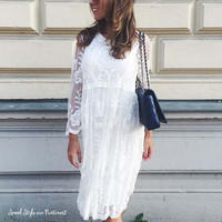 Aster Sky Lace Dress
