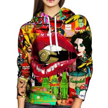 Pop Art Therapy Womens Hoodie