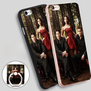 GOP The Vampire Diaries Plastic Soft TPU Silicone Phone Case Cover for iPhone 4 4S 5C 5 SE 5S 6 6S 7 Plus