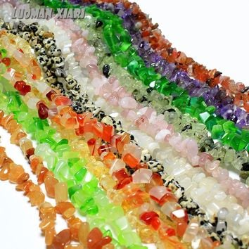 5mm-8mm Natural Stone Beads For Jewelry Making Crystal Onyx  DIY Bracelet Necklace Strand 34''