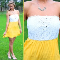 Vacation Bound Dress in Yellow