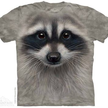 New BIG RACCOON FACE T SHIRT