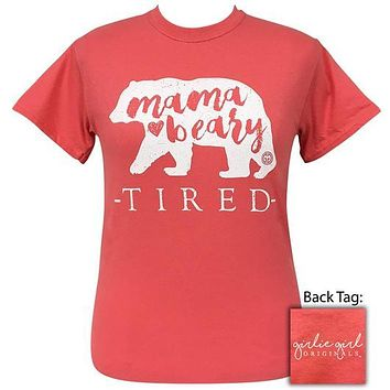 Girlie Girl Originals Preppy Momma Beary Tired T-Shirt