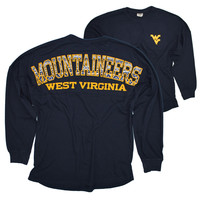 WVU Ladies Spirit Jersey in Aztec Filled Graphics